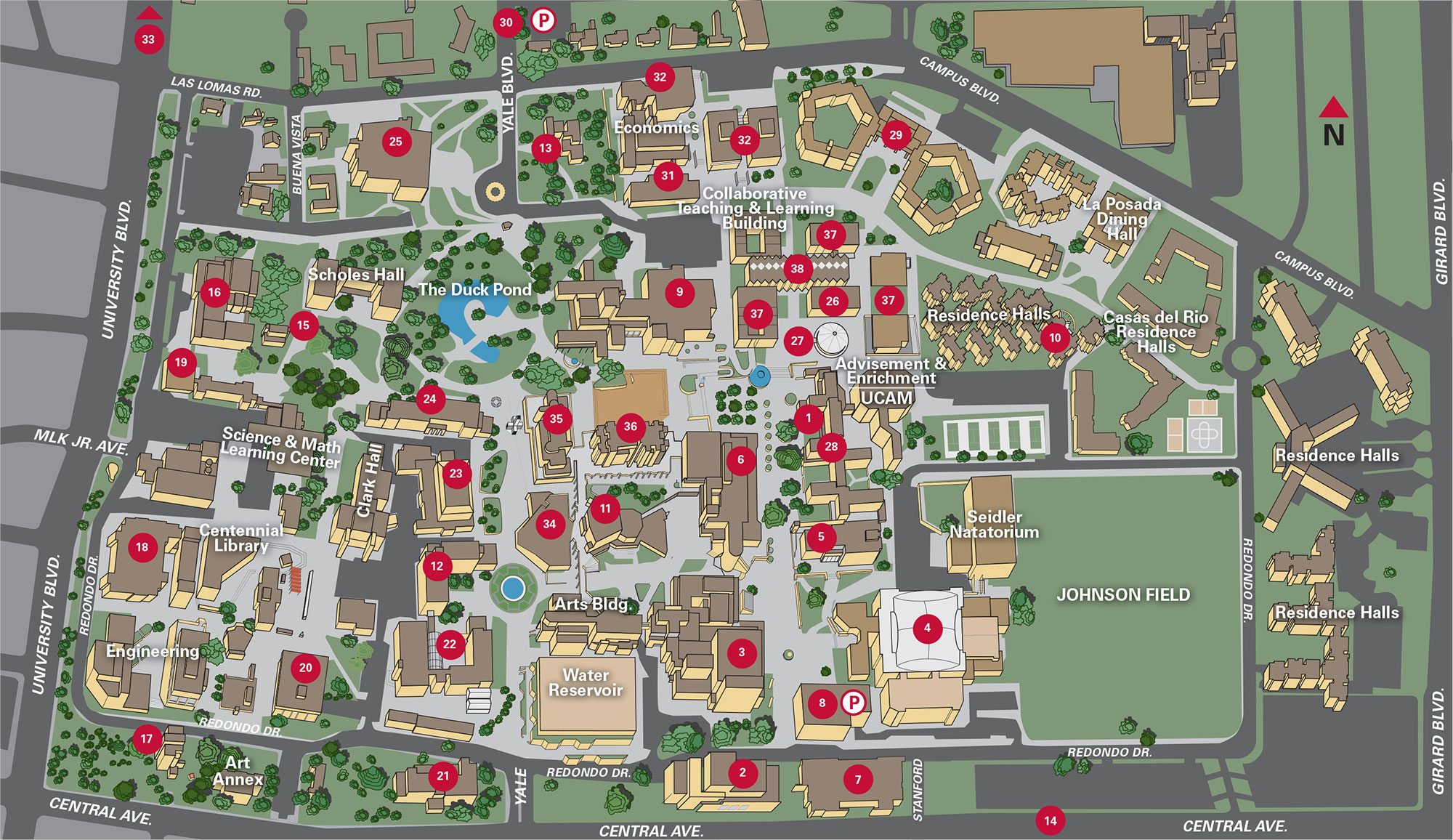 Campus Map | UNM Online Visitor's Guide